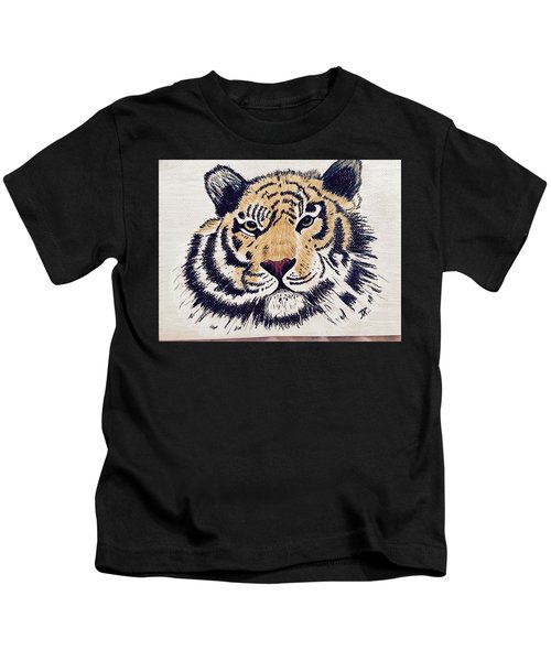 Tiger Tiger Burning Bright Kids T-Shirt