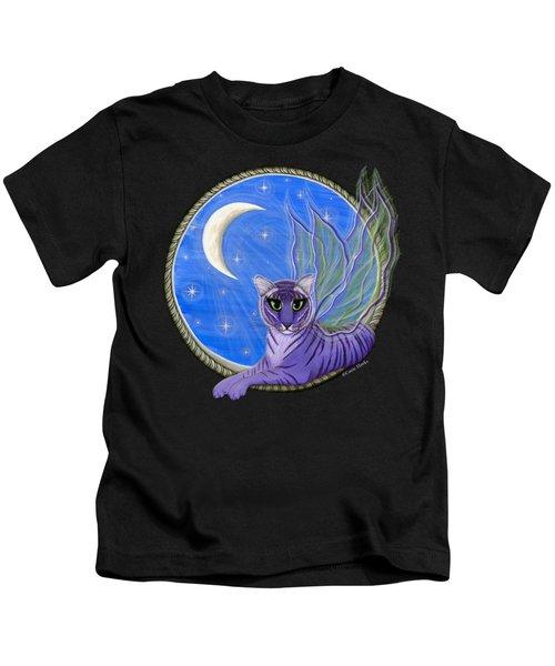 Tigerpixie Purple Tiger Fairy Kids T-Shirt