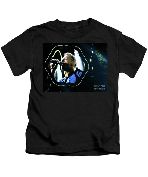 Chris Martin - A Head Full Of Dreams Tour 2016  Kids T-Shirt by Tanya Filichkin