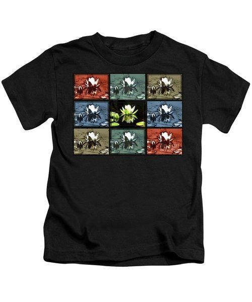 Tiled Water Lillies Kids T-Shirt