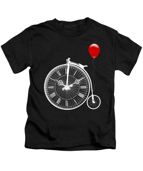 Time For Fun On Black Kids T-Shirt