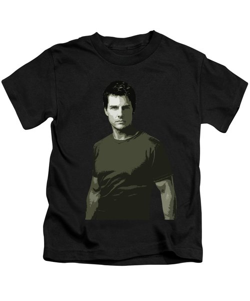 Tom Cruise Cutout Art Kids T-Shirt
