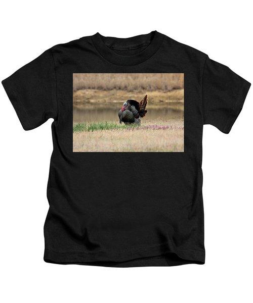 Tom Turkey At Pond Kids T-Shirt