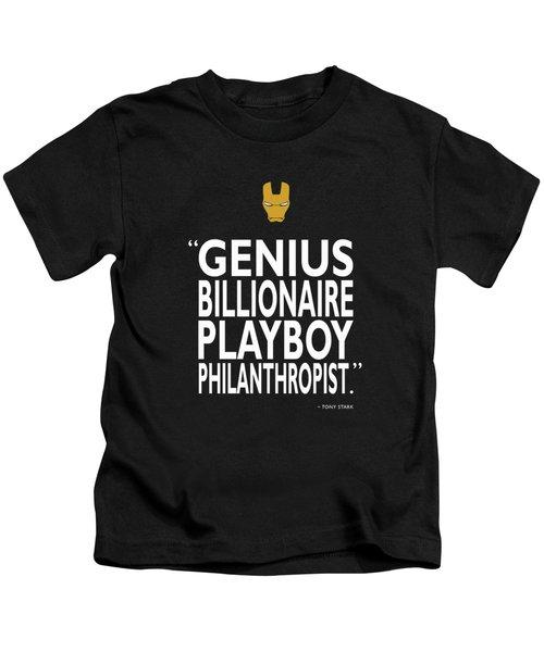 Tony Stark Quote Kids T-Shirt