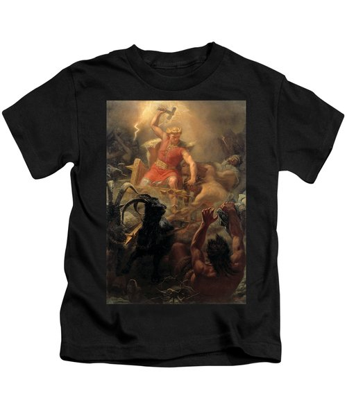 Tor's Fight With The Giants Kids T-Shirt