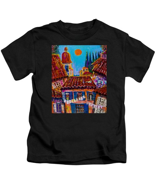Town By The Sea Kids T-Shirt