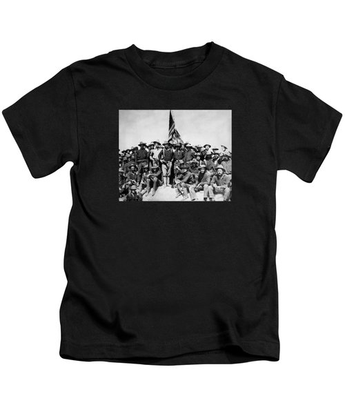 Tr And The Rough Riders Kids T-Shirt