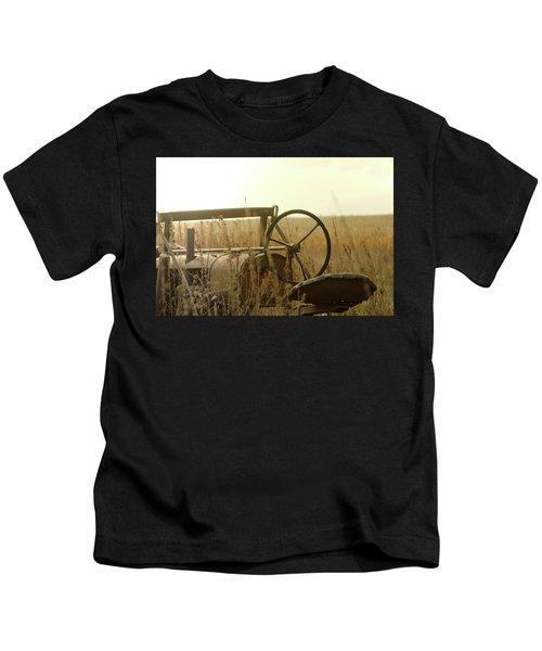 Tractor Sunrise Kids T-Shirt