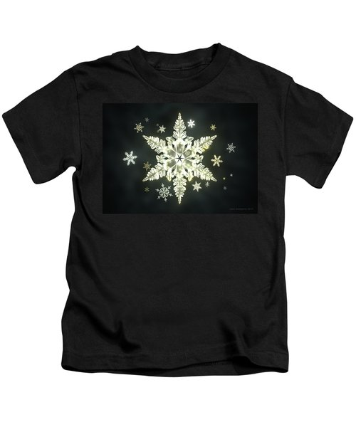 Traditional Sunlight Snowflakes Kids T-Shirt