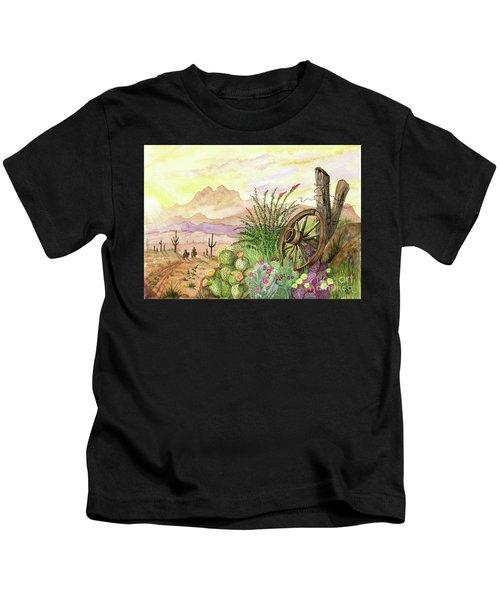 Trail At Sunrise Kids T-Shirt