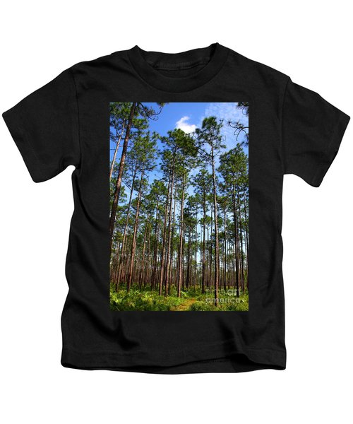 Trail Through The Pine Forest Kids T-Shirt