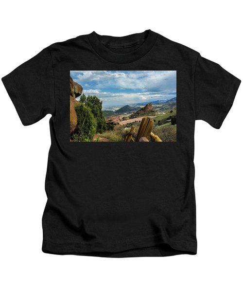 Trails At Red Rocks Kids T-Shirt
