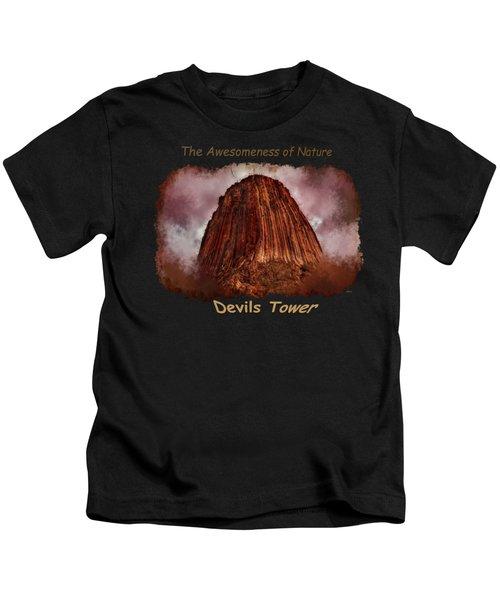 Transcendent Devils Tower 2 Kids T-Shirt