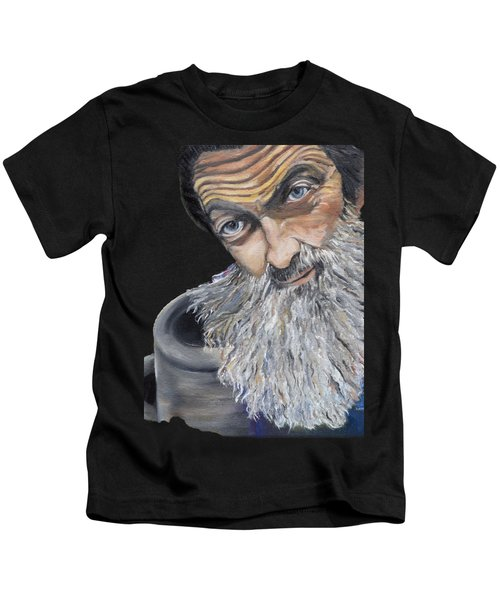 Popcorn Sutton Shines With Transparent Background -for T-shirts And Other Fabric Items- Moonshine Kids T-Shirt