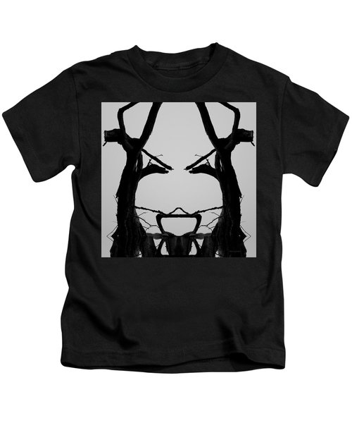 Tree Face I Bw Sq Kids T-Shirt