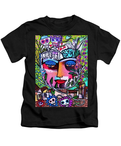 Tree Of Life Face Kids T-Shirt