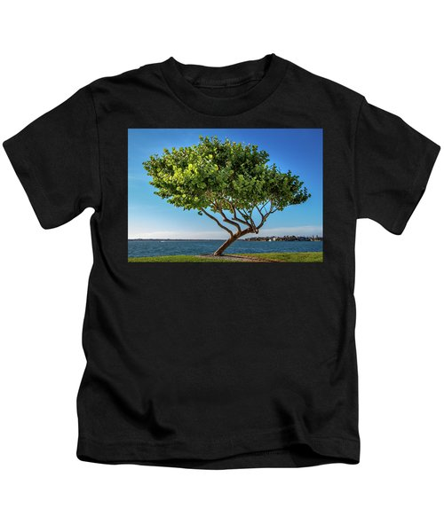 Tree On The Bay Kids T-Shirt