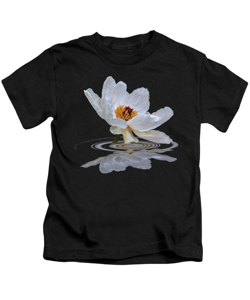 Tree Peony Reflections Kids T-Shirt