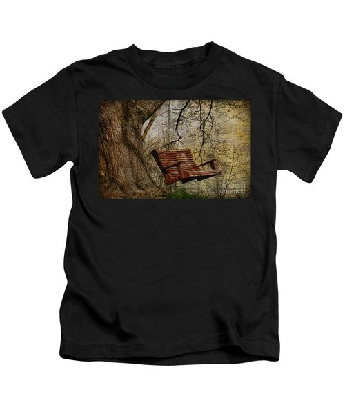 Tree Swing By The Lake Kids T-Shirt