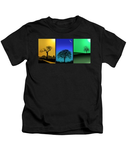 Tree Triptych Kids T-Shirt
