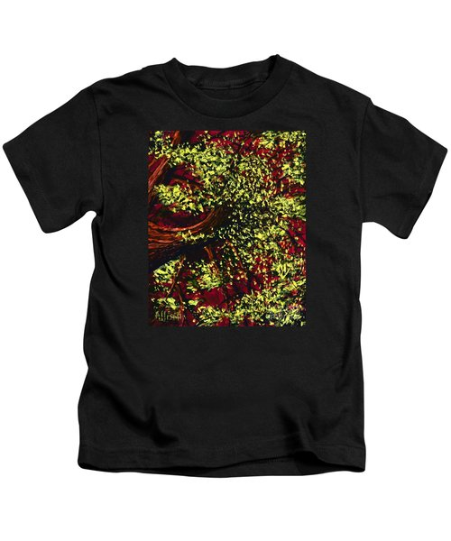 Tree With Red Sky Kids T-Shirt