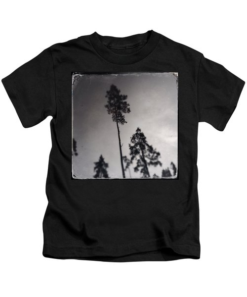 Trees Black And White Wetplate Kids T-Shirt