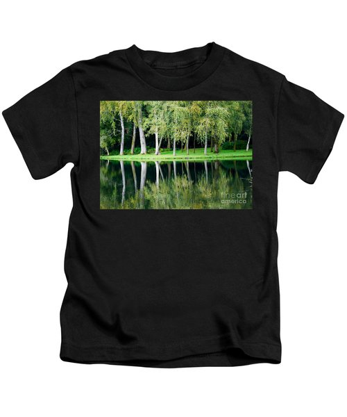 Trees Reflected In Water Kids T-Shirt
