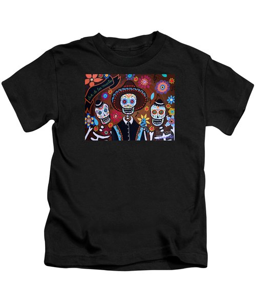 Tres Amigos Mariachi Kids T-Shirt