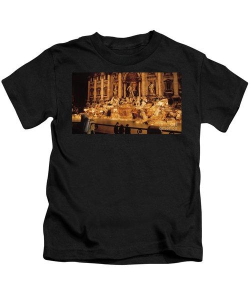 Trevi At Night Kids T-Shirt