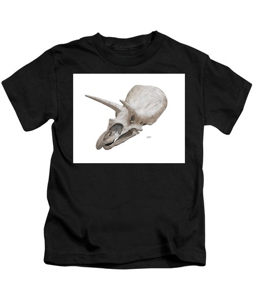 Triceratops Skull Kids T-Shirt