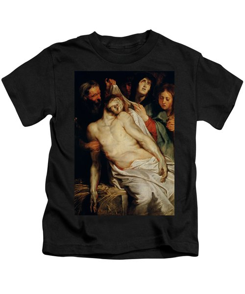Triptych Of Christ On The Straw Kids T-Shirt