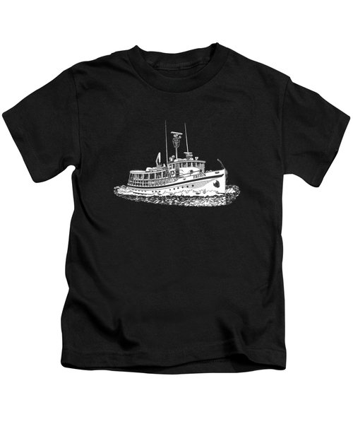 88 Foot Fantail Yacht Triton Kids T-Shirt by Jack Pumphrey