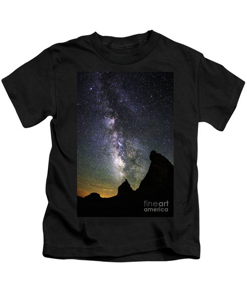 Trona Pinnacles Milky Way Kids T-Shirt