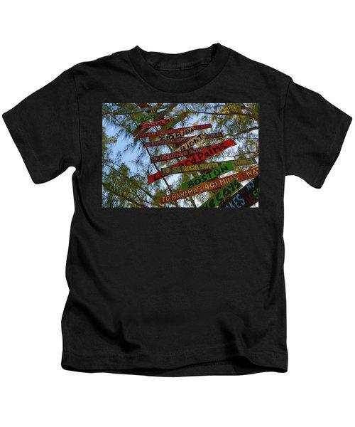 Tropical Directions Kids T-Shirt