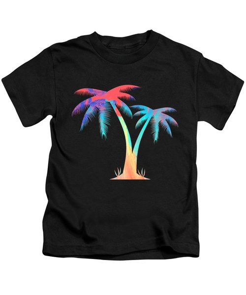 Tropical Palm Trees Kids T-Shirt