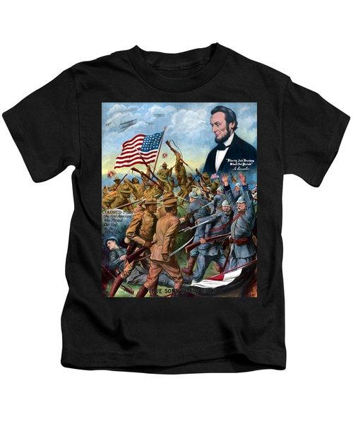 True Sons Of Freedom -- Ww1 Propaganda Kids T-Shirt