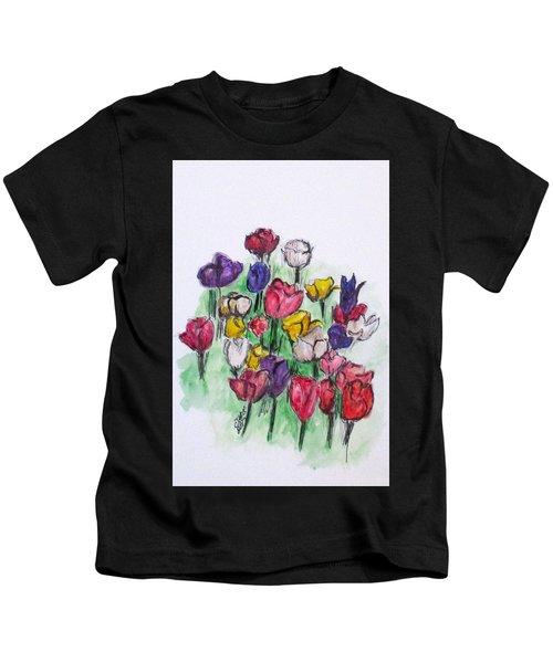 Tulip Bed Kids T-Shirt