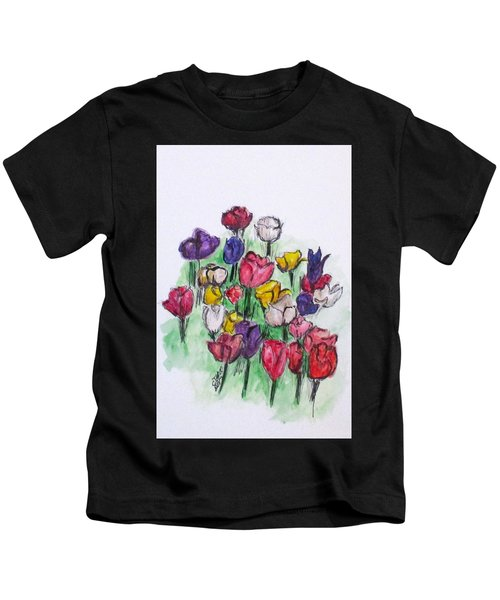 Tulip Bed Kids T-Shirt
