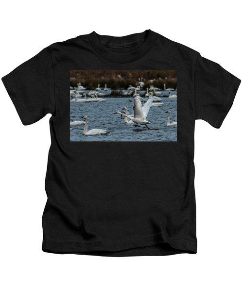 Tundra Swan And Liftoff Head Start Kids T-Shirt