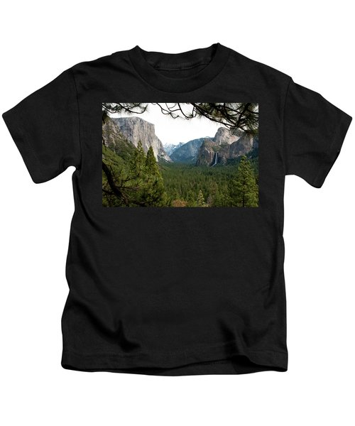 Tunnel View Framed Kids T-Shirt