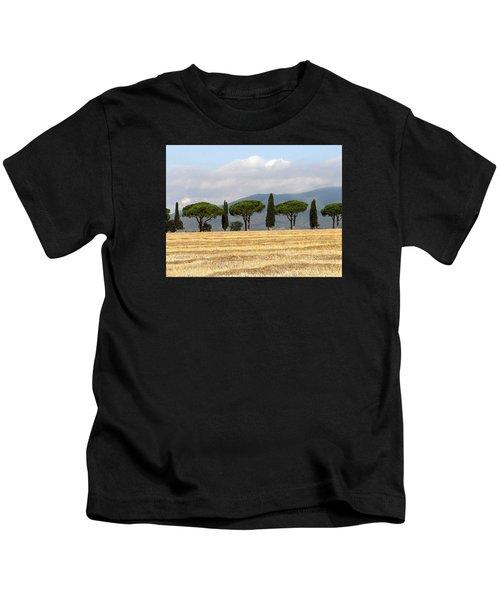 Tuscany Trees Kids T-Shirt