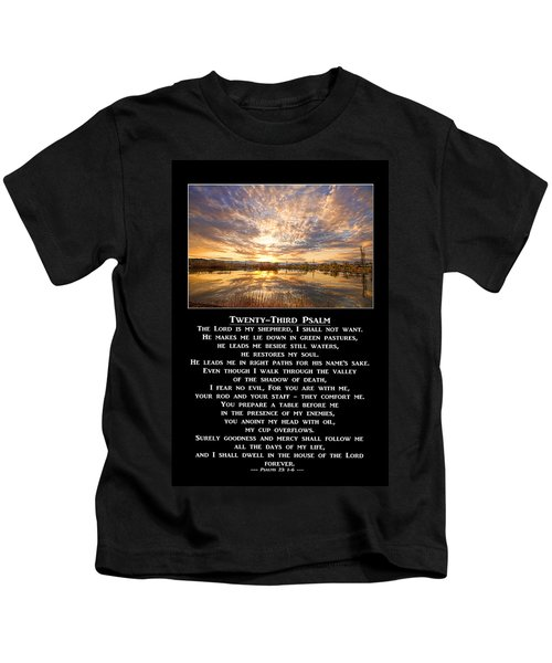 Twenty-third Psalm Prayer Kids T-Shirt