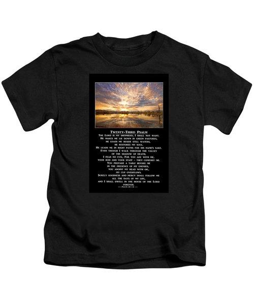 Twenty-third Psalm Prayer Kids T-Shirt
