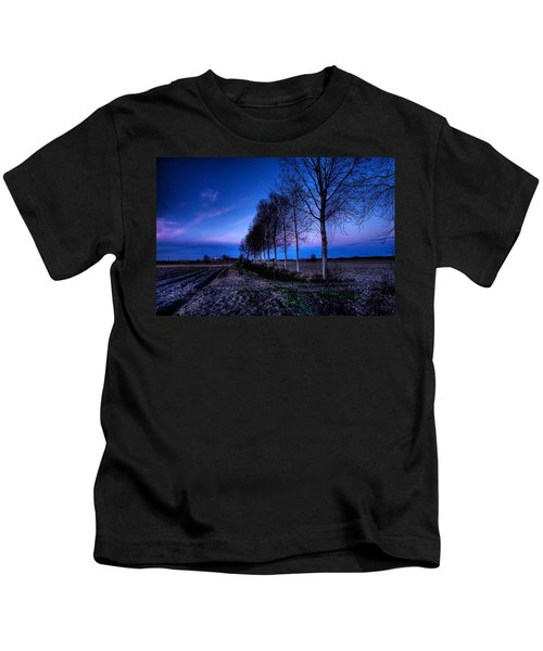 Twilight And Trees Kids T-Shirt