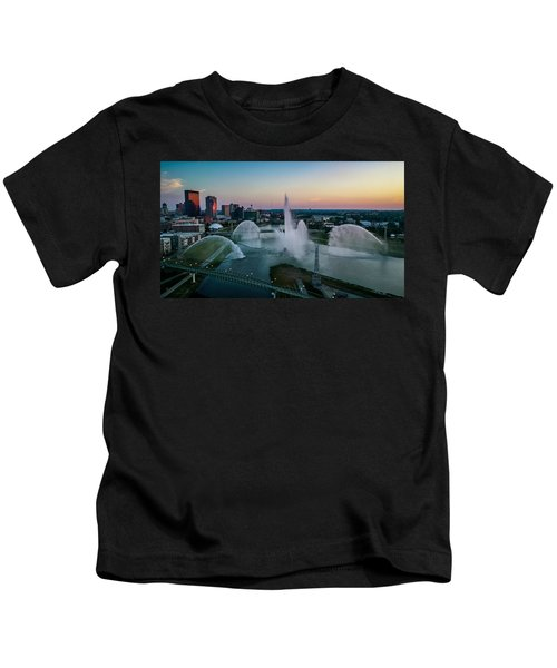 Twilight At The Fountains Kids T-Shirt