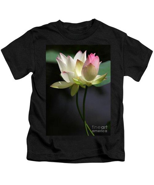 Two Lotus Flowers Kids T-Shirt