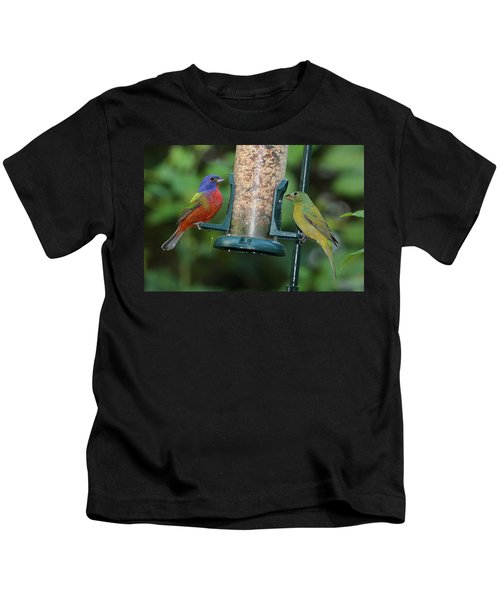 Two Painted Buntings Kids T-Shirt
