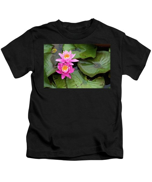 Two Pink Lilies Kids T-Shirt