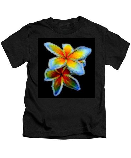 Two Plumerias Kids T-Shirt