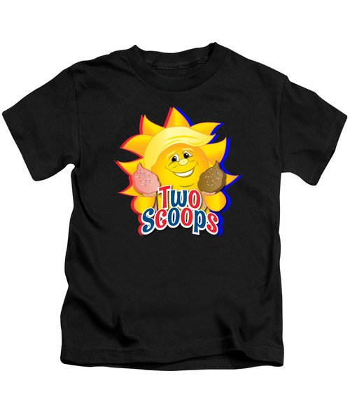 Two Scoops  Kids T-Shirt by Eye Candy Creations